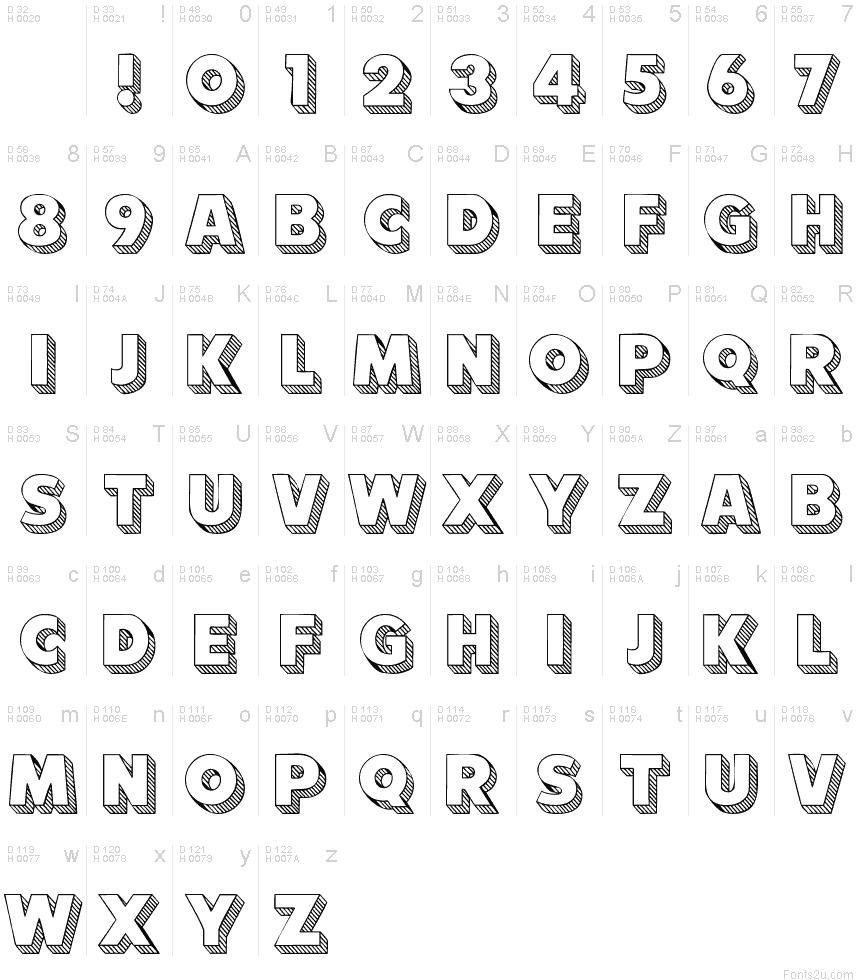 101 Block LetterZ font