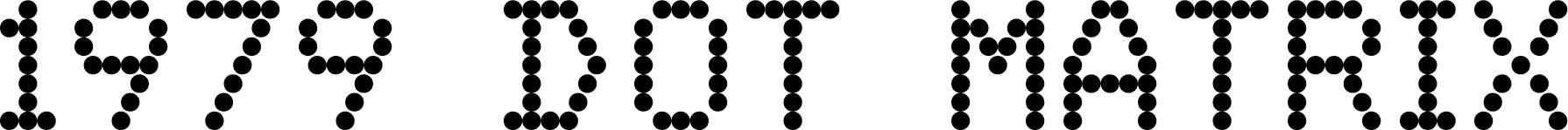 1979 Dot Matrix Regular font