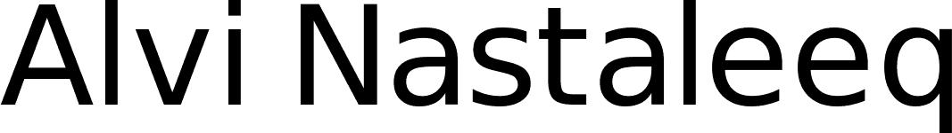 Alvi Nastaleeq font