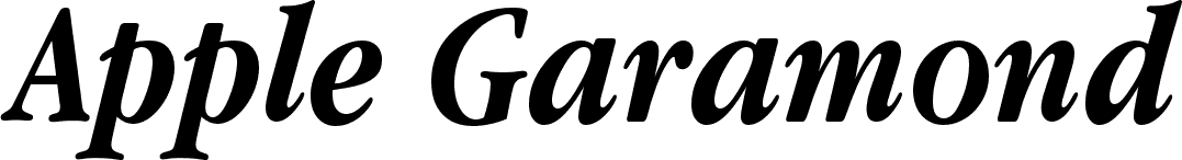 Apple Garamond Bold Italic font