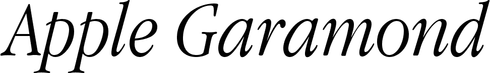 Apple Garamond Light Italic font