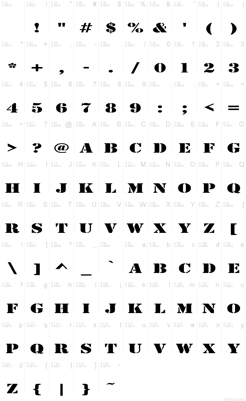 Army Expanded font