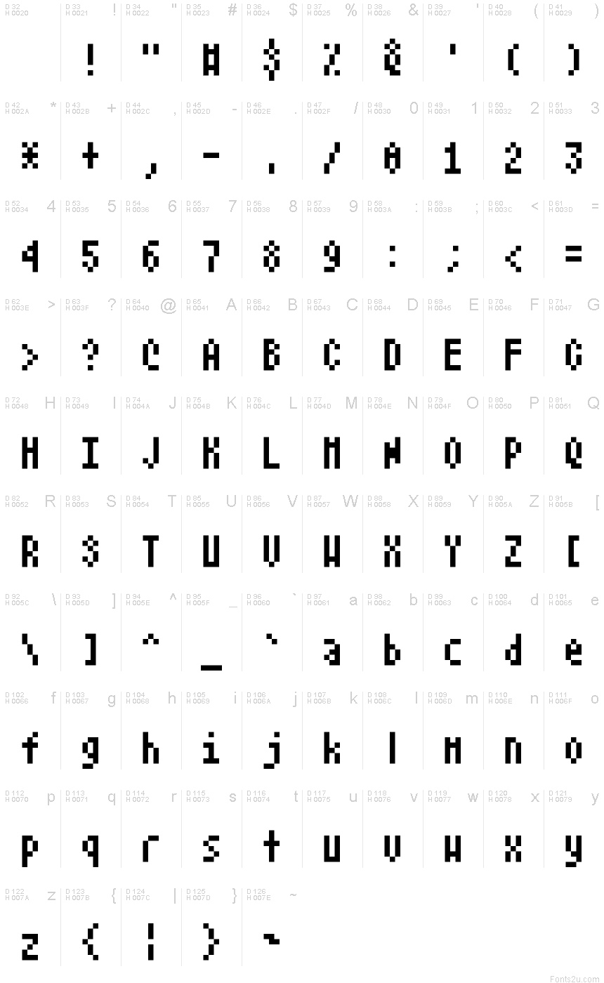 Atari Small Font