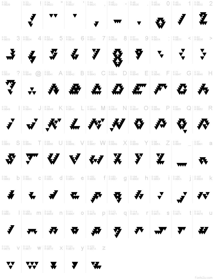 lettre bizar Bizar Loved Triangles font lettre bizar