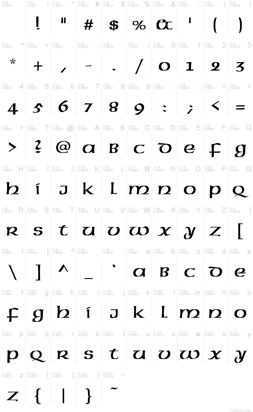 Celtic normal font basic font information biocorpaavc Choice Image