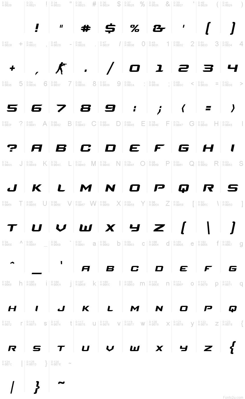 Counter Strike Italic Font