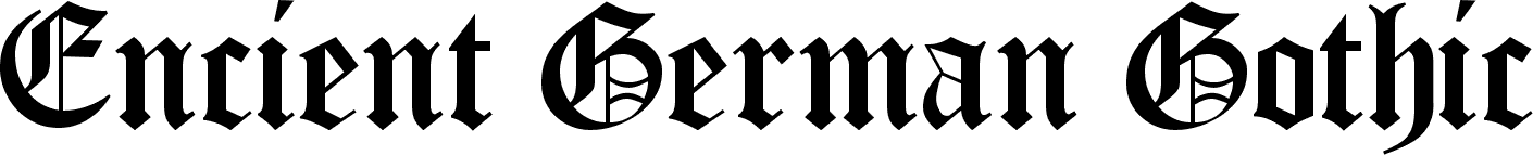 Encient German Gothic Font