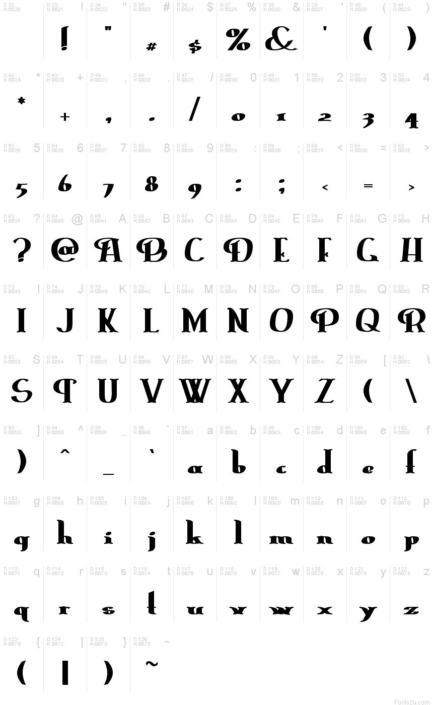 Download ErasmusInline Bold font
