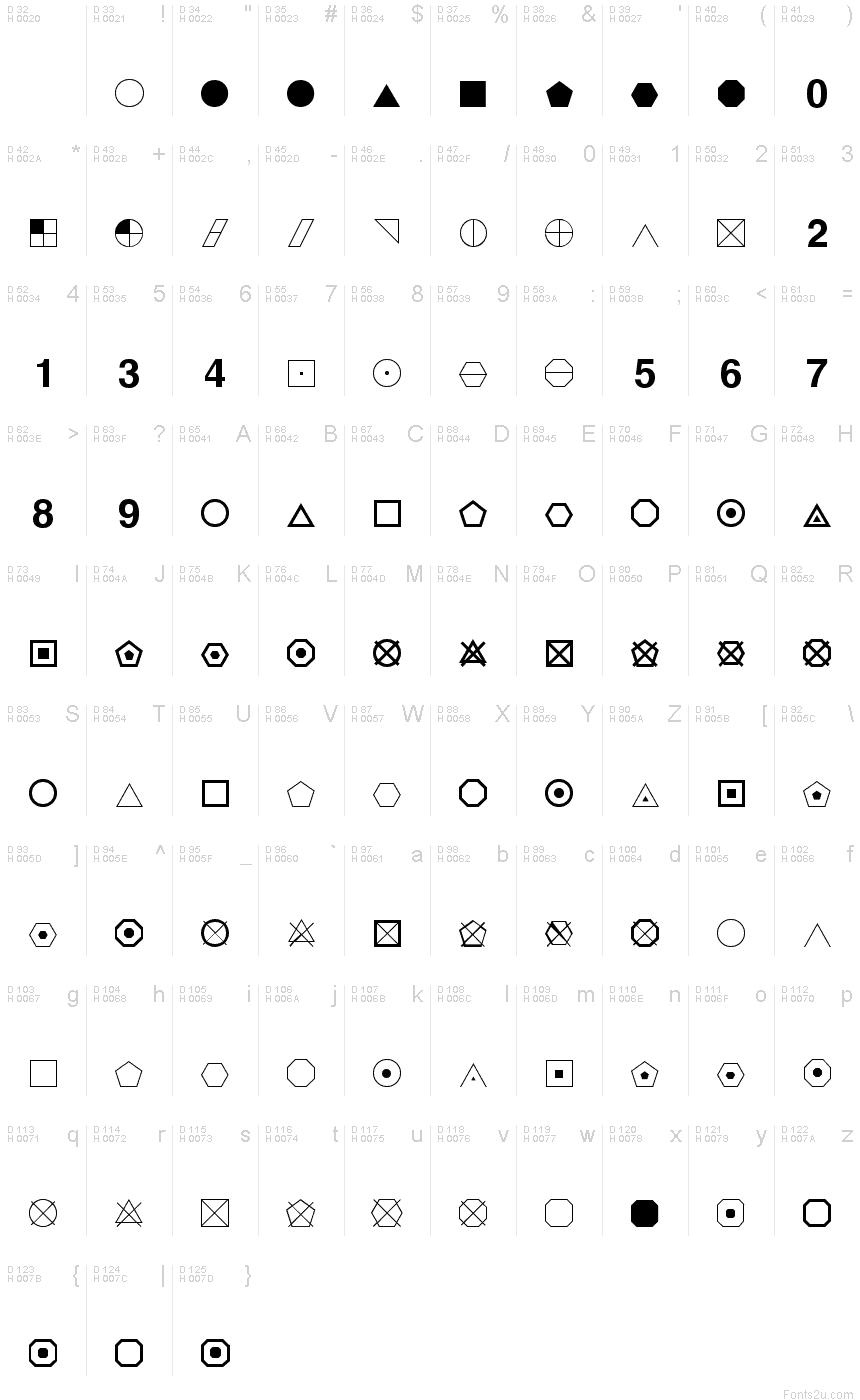 Geometric symbols font basic font information biocorpaavc Images