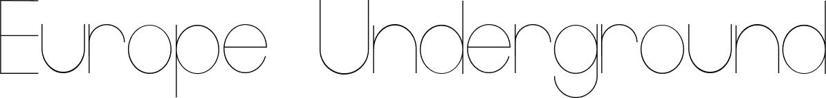 Europe Underground Light font