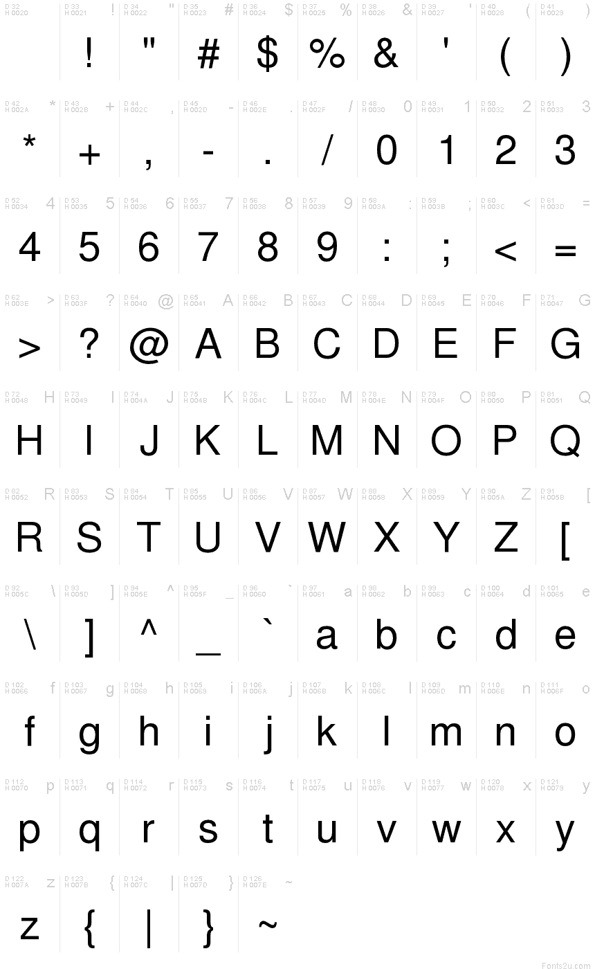 Free sans font basic font information biocorpaavc Images