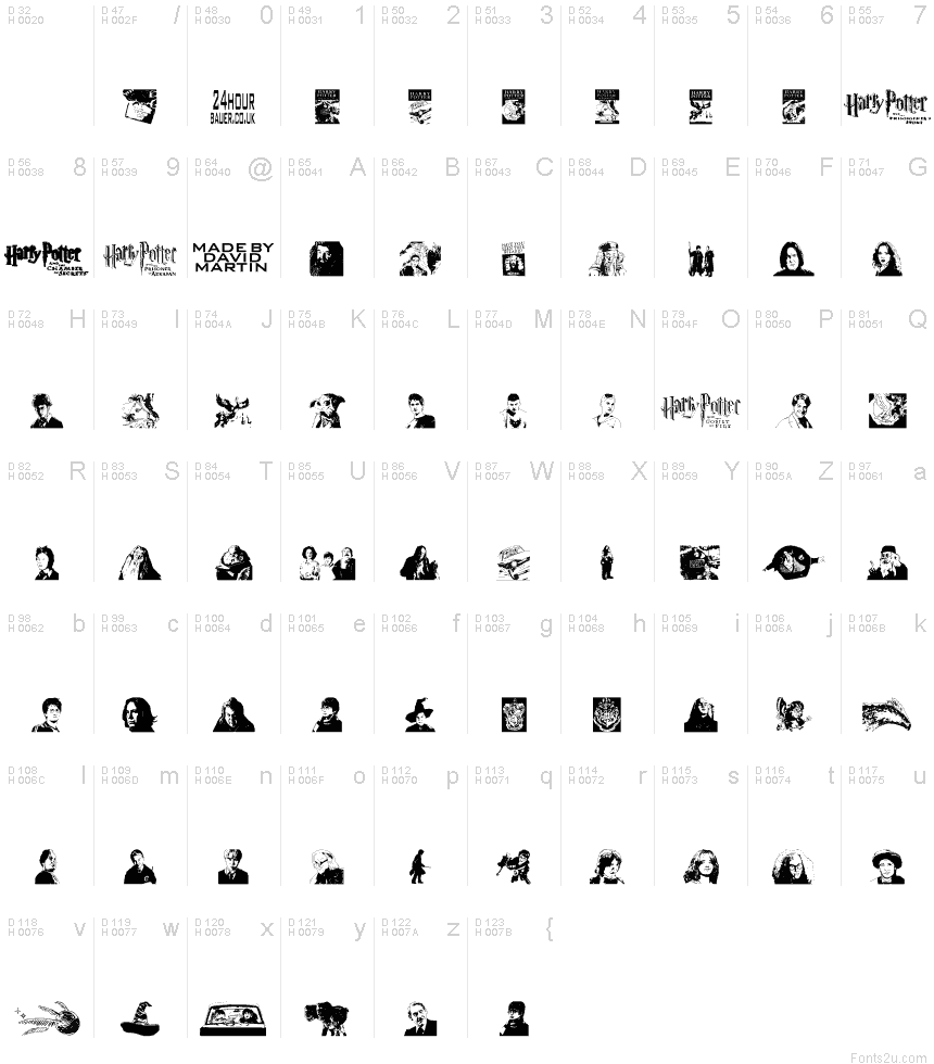 Potter and the dingbats font basic font information biocorpaavc Images