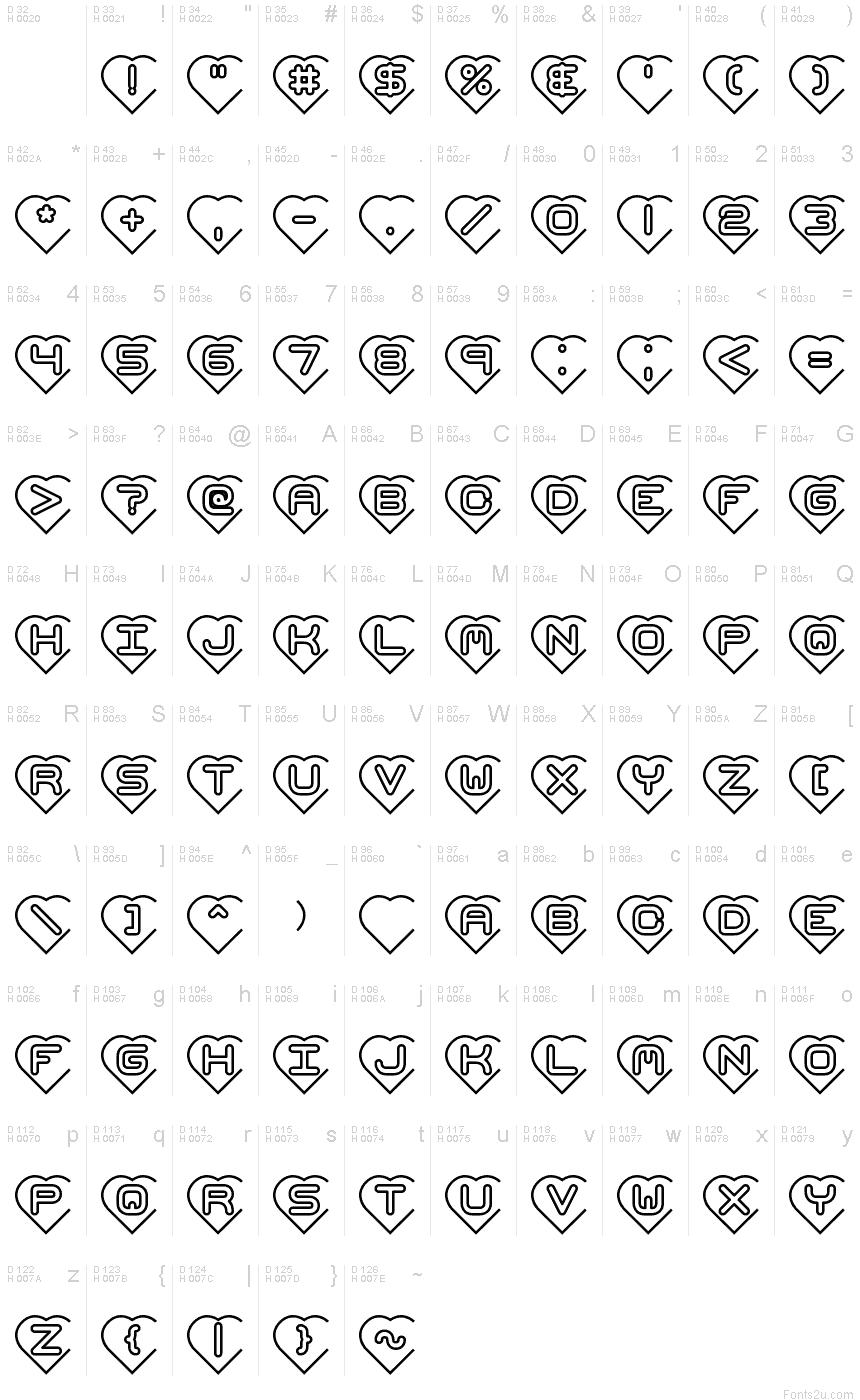 Hearts brk font basic font information buycottarizona