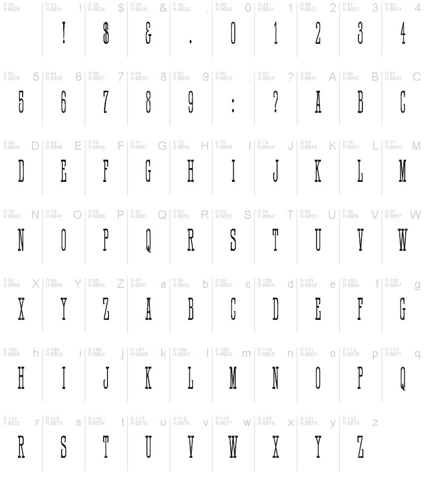 HFF Quick Draw Font
