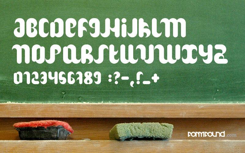 образец шрифта