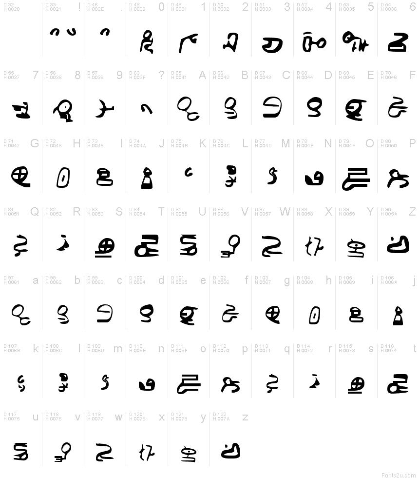 ID4 Alien Script Font