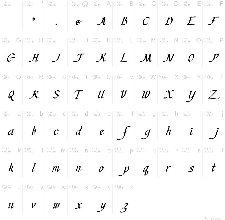 Kens Calligraphic Font