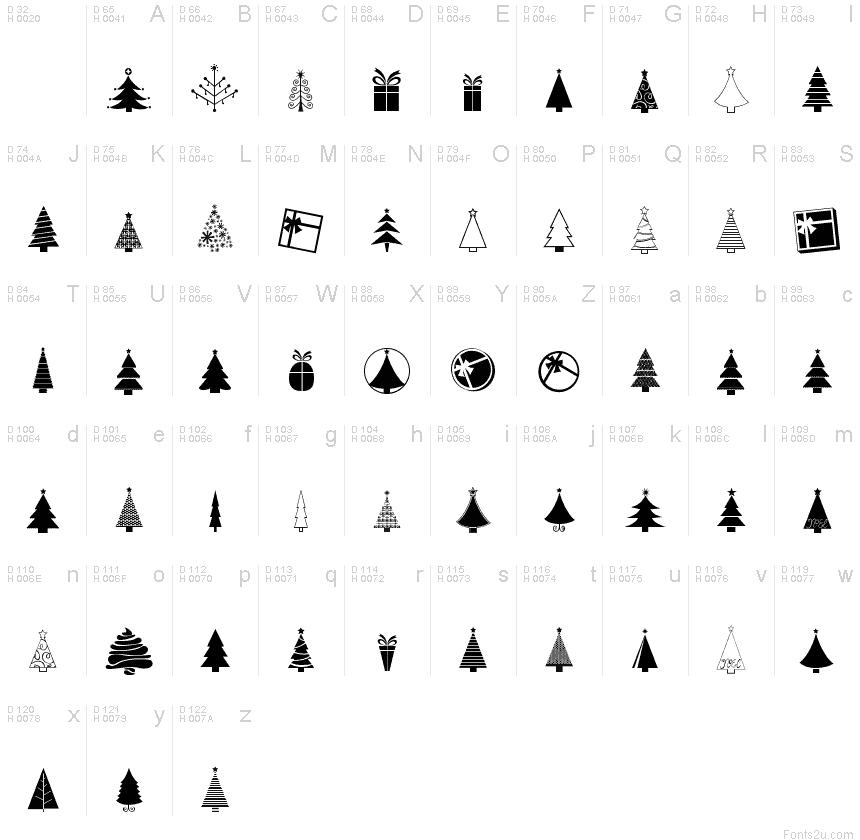 KG Christmas Trees font