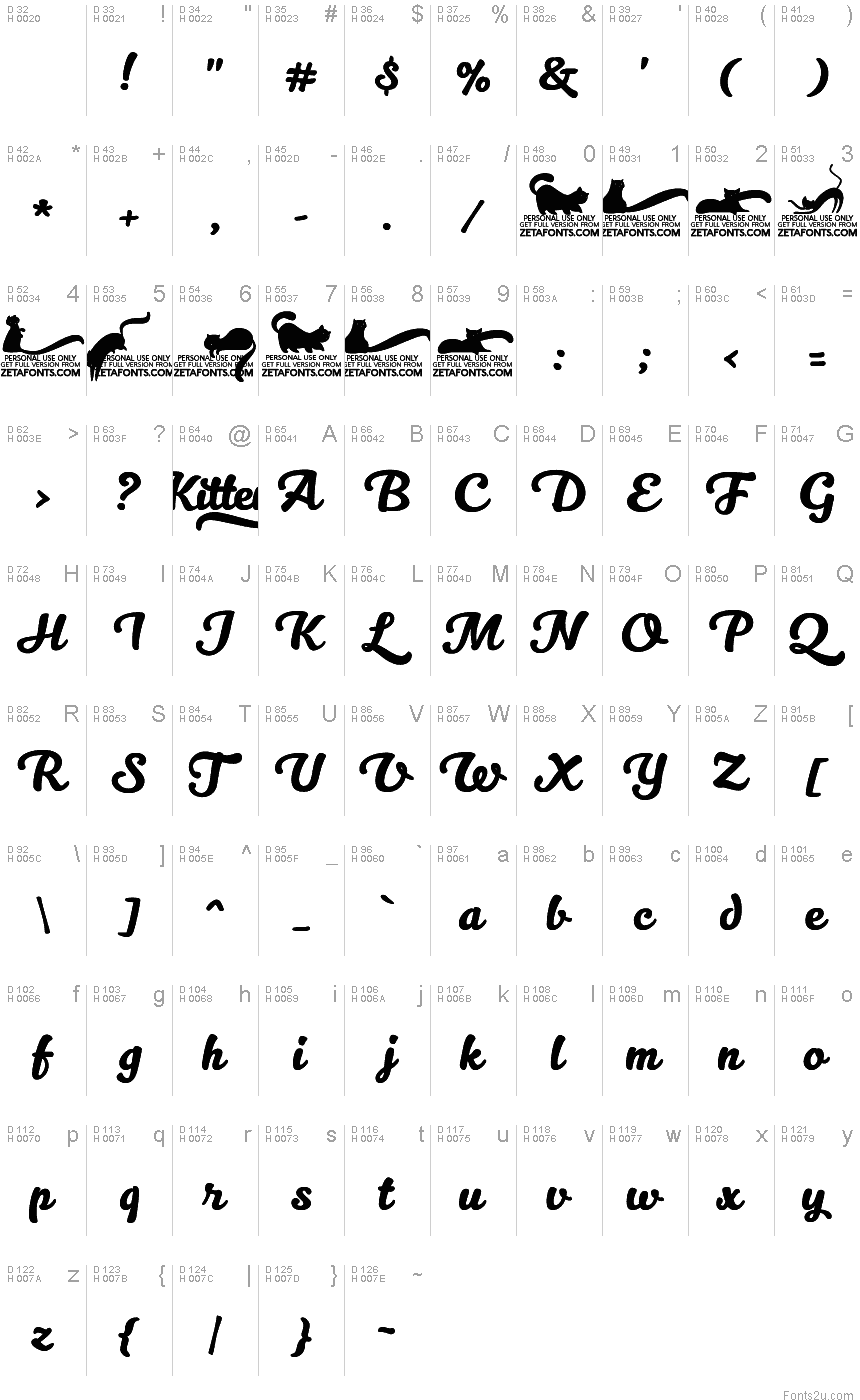Kitten swash font basic font information biocorpaavc Image collections