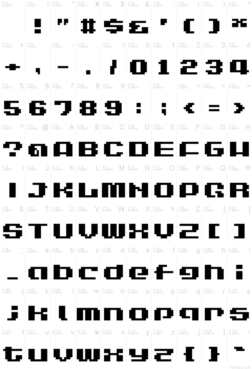 LVDC Game Over 2 font
