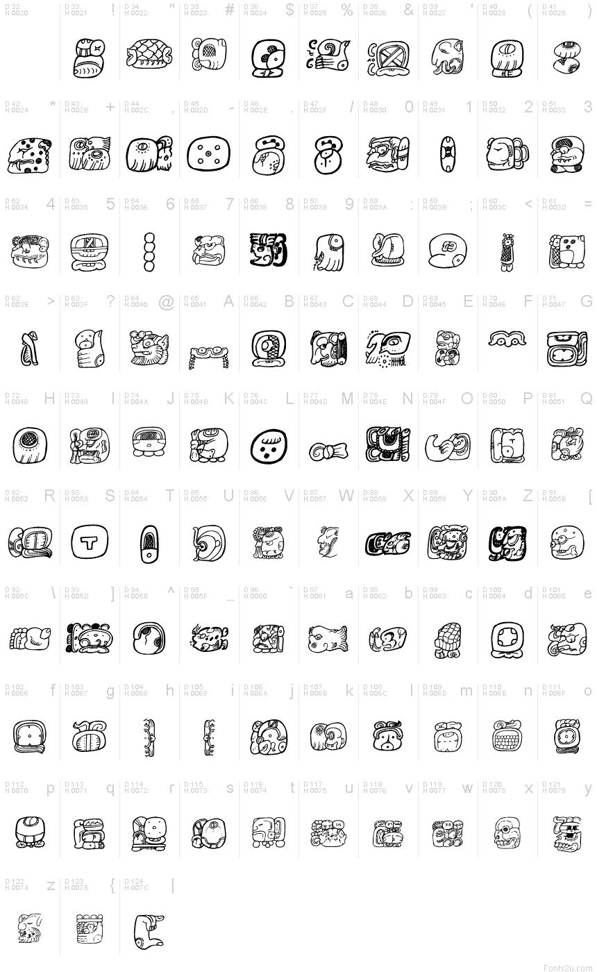 Maya hieroglyphics font basic font information thecheapjerseys Gallery