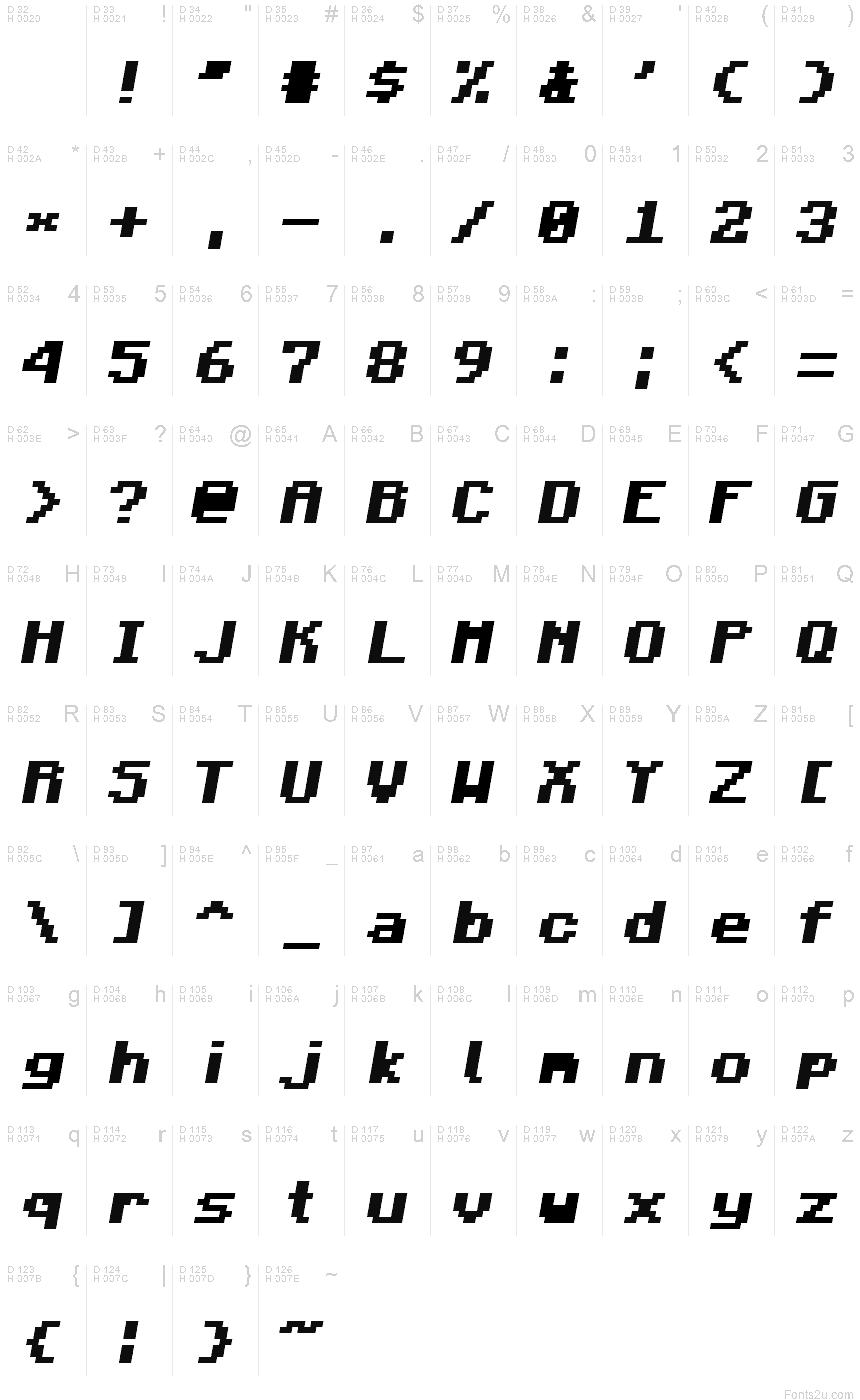 шрифт майнкрафт #11