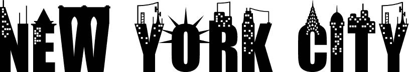 new york city font. Black Bedroom Furniture Sets. Home Design Ideas