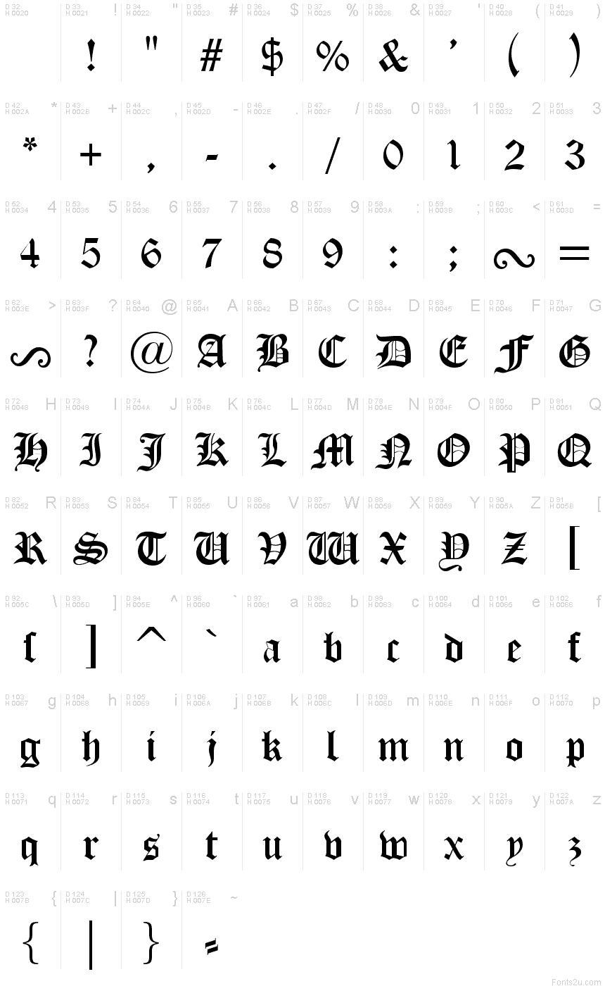Super Old London font SP75