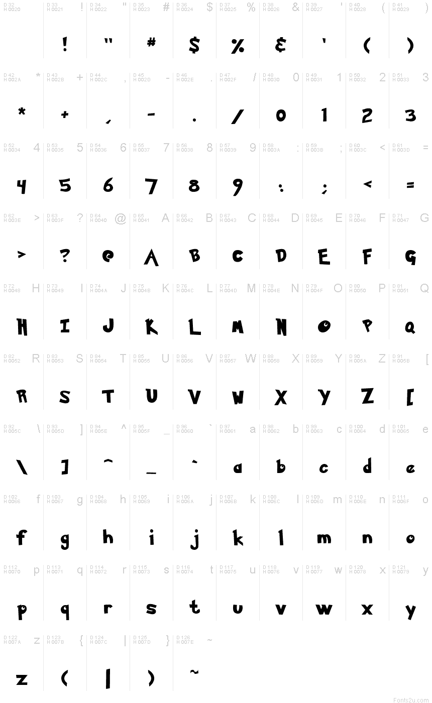 Pokemon solid normal font basic font information biocorpaavc