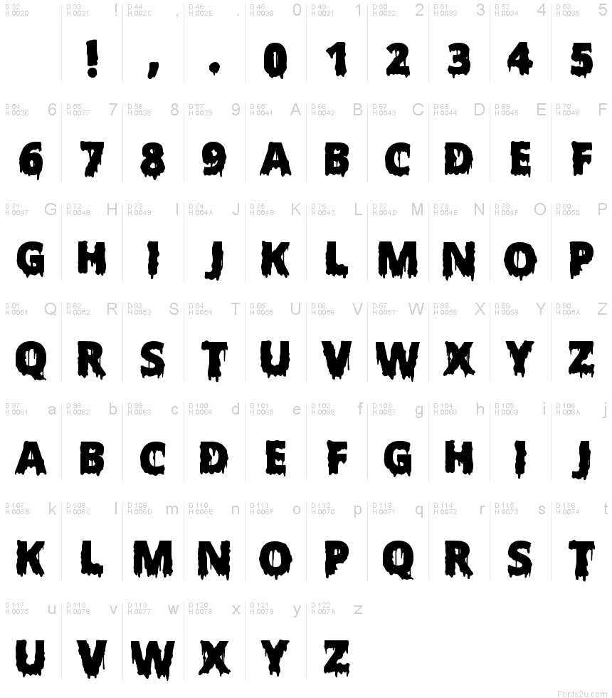 Scary Halloween Font Bold font