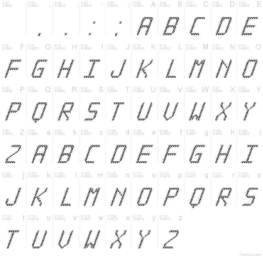 Triangled tfb cursive fontVietnamese Cursive