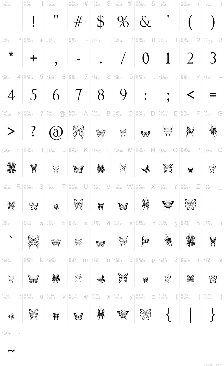 Tribal butterflies font basic font information biocorpaavc Images