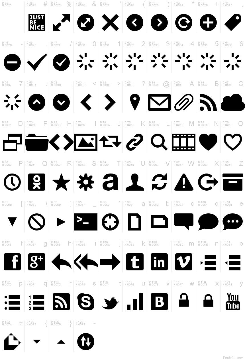Websymbols regular font basic font information biocorpaavc Choice Image