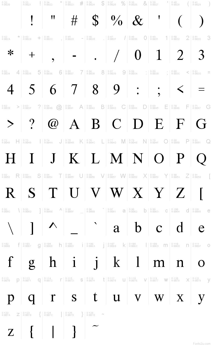 XSerif Unicode フォント