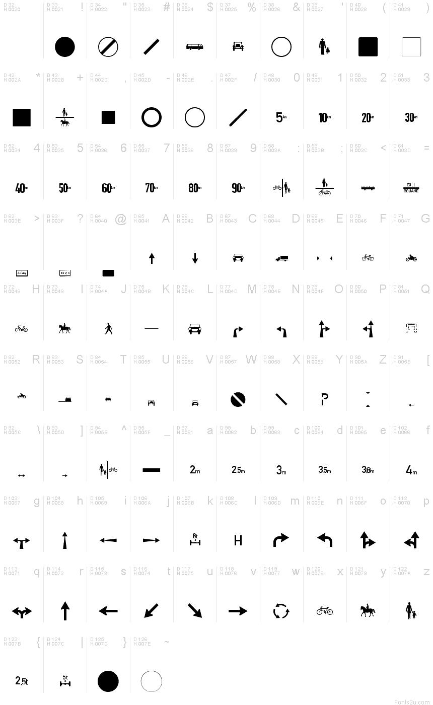 Zeichen zweihundert alt font for Space character ascii