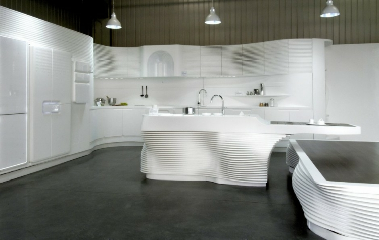 Modern Hi-Macs Kitchen by LG Hausys