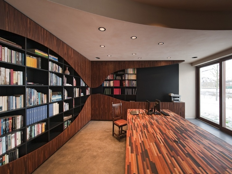Contemporary Home Libraries HomeAdore
