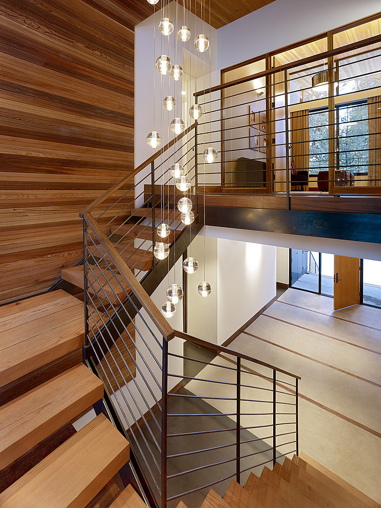 Large Rustic Foyer Lights : Sugar bowl residence by john maniscalco architecture