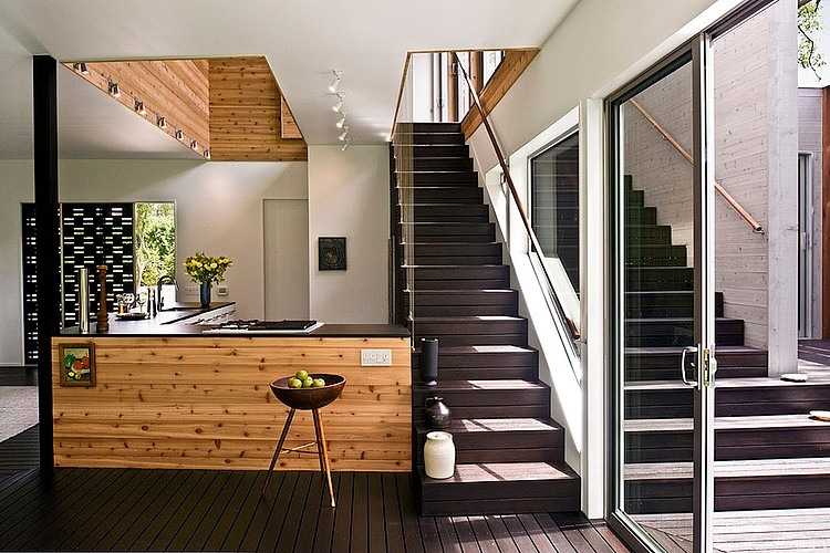 Интерьеры узких домов фото