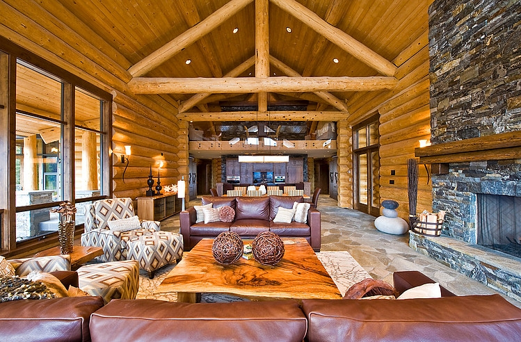Okanagan Log Home By Sticks And Stones Design Group Inc