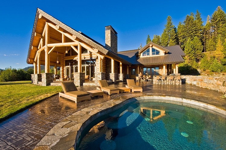 Okanagan Log Home by Sticks and Stones Design Group Inc « HomeAdore