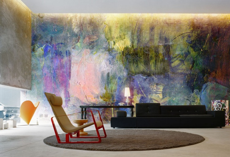 Modern Paint like Wall Murals HomeAdore