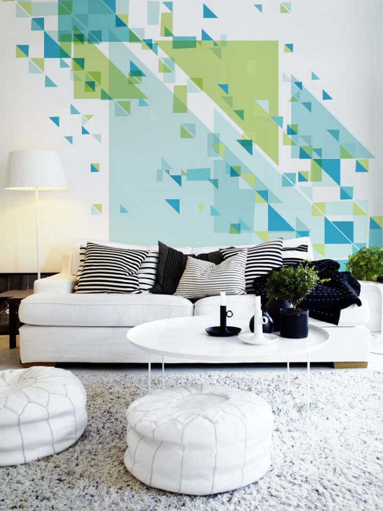 geometric wall design from pixers - Simple Shapes Wall Design