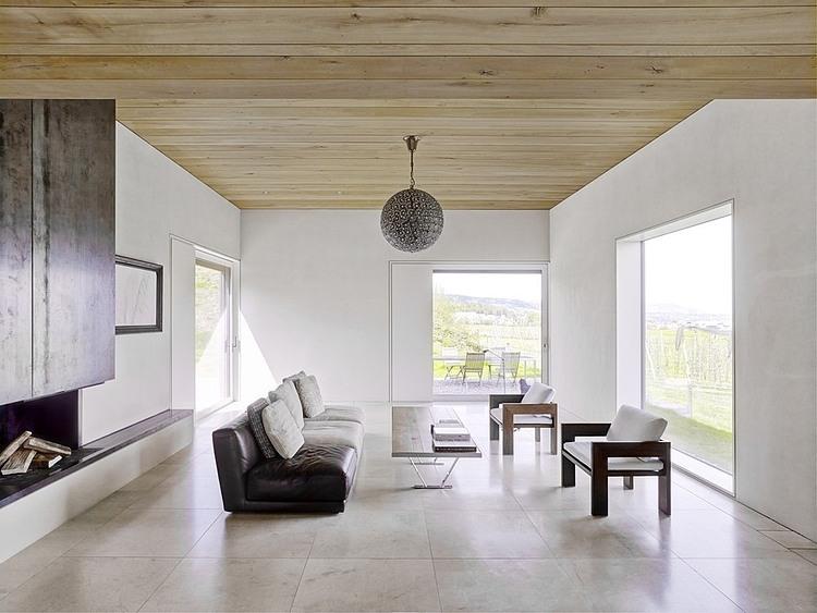Gottshalden by rossetti wyss architects homeadore - Holzdecke modern ...