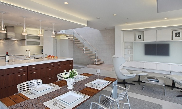 Modern Condo by Angelini and Associates Architects