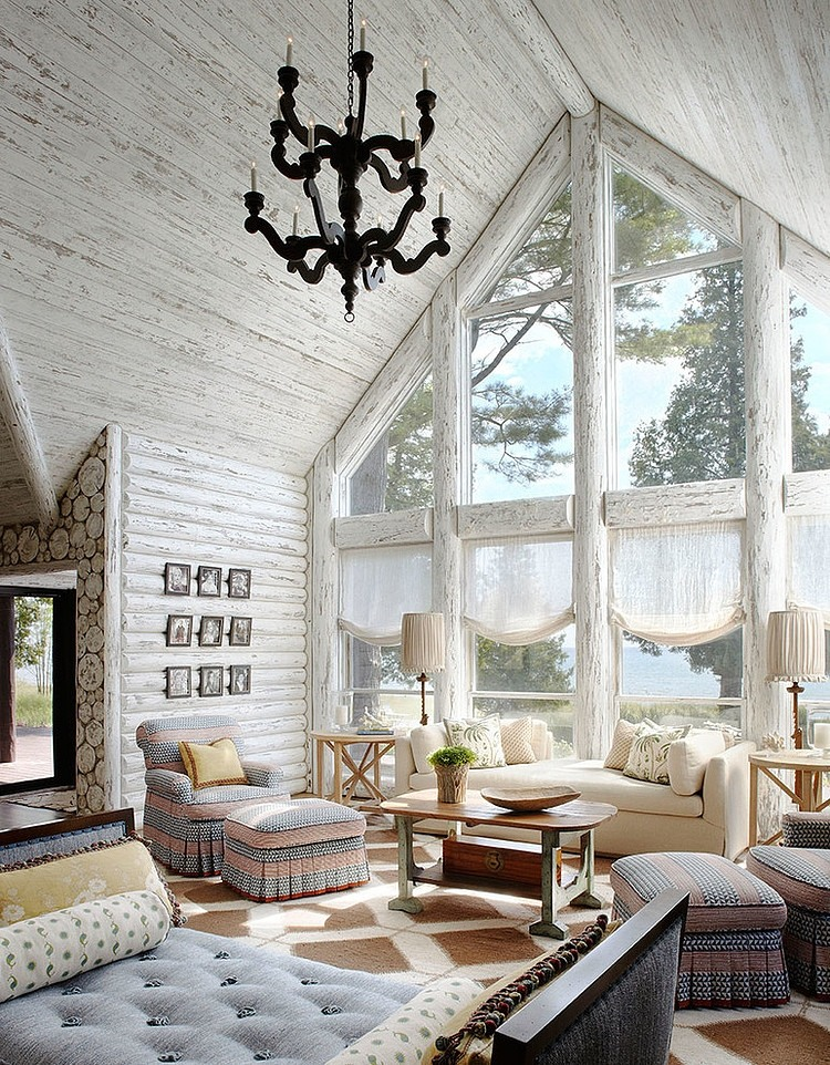 Whitewashed Lake Cabin by Jessica Jubelirer Design « HomeAdore