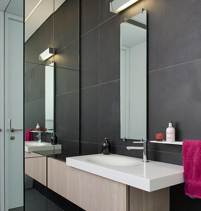 Narrow Bathrooms can be effective…..