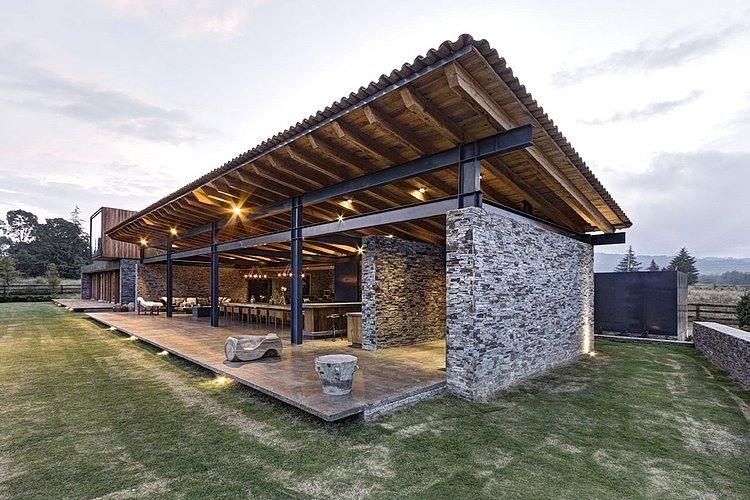modern home architecture stone. VR Tapalpa House By Elias Rizo Arquitectos Modern Home Architecture Stone