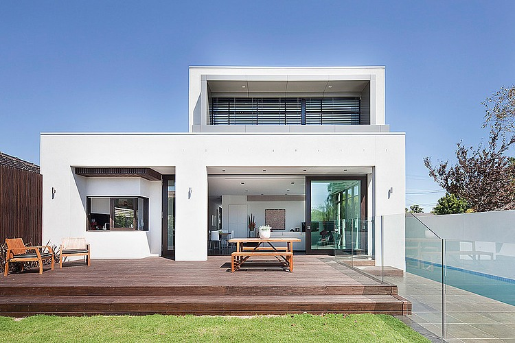 Brighton home by darren comber homeadore for Casas minimalistas con jardin
