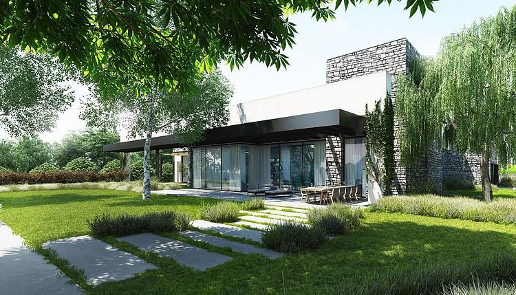 Stone Residence by Ando Studio